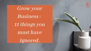 Grow the business: 11 things you must have ignored